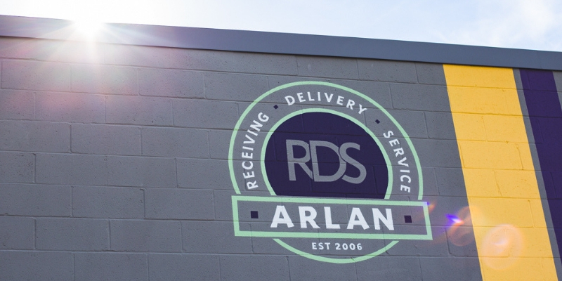 Arlan logo on building exterior 3